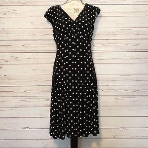 Ralph Lauren Thick Black Polka Dot Dress